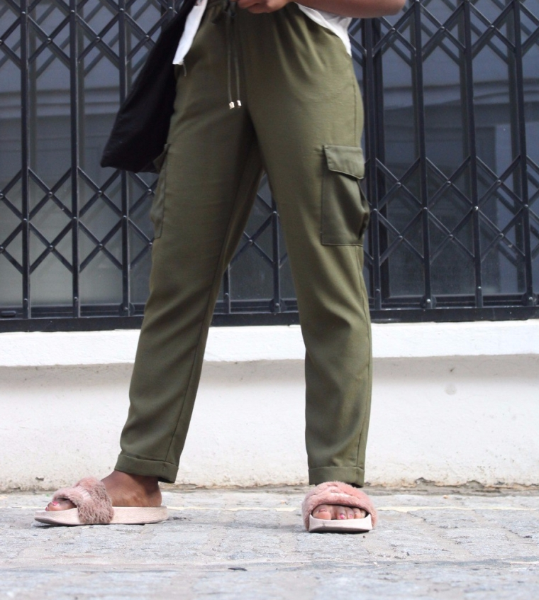 Army Combat Green Silk Trouser